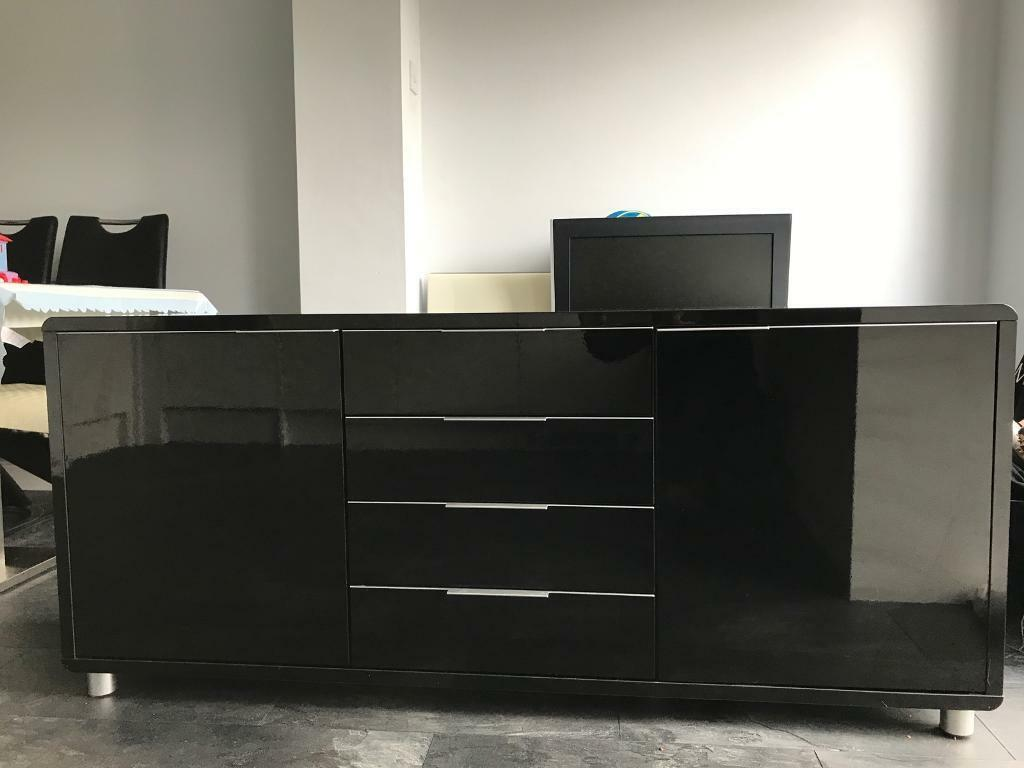 Black high gloss sideboard in Newton le Willows, Merseyside Gumtree