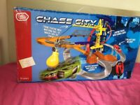 Chad Valley Chase City Playset Includes 2 Die-Cast Cars New BOX IS SLIGHLY DAMAG