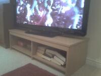 laminate beech effect tv stand
