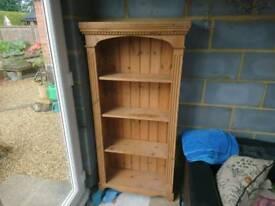 Oiled pine book case
