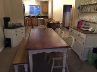 Laura Ashley Dining Table and bench