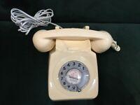 TELEPHONE HANDSET GPO 746 ROTARY DIAL VINTAGE RETRO
