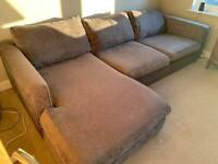 MAKE ME AN OFFER - VG Condition Sofology Majestic 3 seater, chaise + large footstool