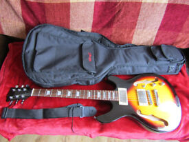 ELECTRIC SEMI HOLLOW BODY GUITAR Vintage Sunburst with Gigbag and Strap