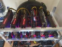 Crypto ETHEREUM ETH Miner Mining Rig - 510+ MH/s
