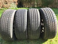 "4x AS NEW 15"" wheels & tyres 195/55 R15 4 stud Fiesta, Clio, etc"