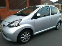 2008 Silver Toyota Aygo Platinum 1.0L Petrol, Manual, FSH, Aircon, leather, 2keys, HPI clear