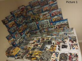Huge lot of Lego (121 sets-Complete/incomplete/with box/without box), thousands of bricks