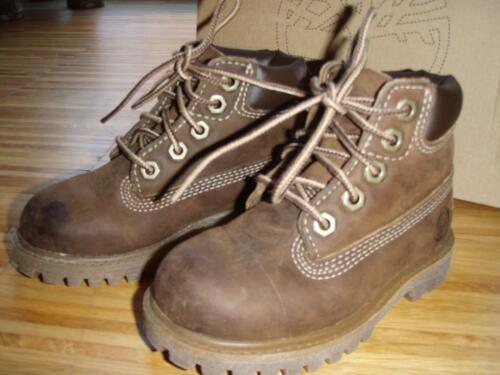 original Timberland Boots Gr, EU 23.5 Leder zum Schnüren Karton