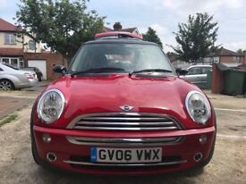 MINI COOPER AUTOMATIC 1598 CC LADY OWNER 2006 WITH FULL SERVICE HISTORY FROM ZERO METER