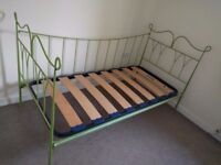 metal Day bed single bed and mattress free delivery