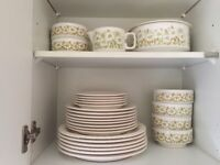 Collection of Retro Hornsea Fleur Tableware (Plated Bowls Jug Tureen ) Dinner Set