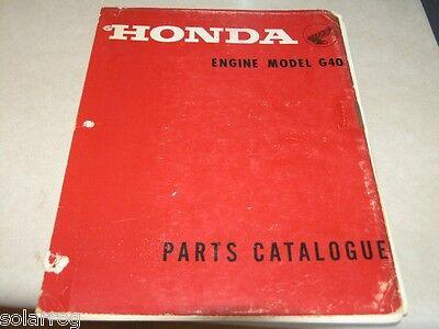 Honda Generator G40 Parts Break Down  Catalog 1968