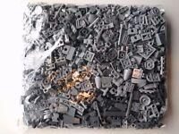 LEGO 0.5kg / 500g small Lego pieces light bluish grey / dark bluish grey mix.
