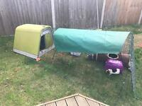 Omlet eglu with run. Chickens or Guinea pigs or Rabbits. Hutch enclosure.
