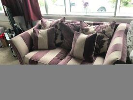 3 seater striped sofa