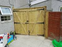 Timber gates making, handcrafted to the any size. Fencing, decking, timber work etc.
