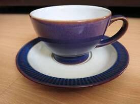 Denby tea set 6 cups and saucers