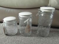 Set of 3 Food Storage Jars by Beau & Elliot, British Brand