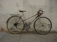 Ladies Vintage Mixte Road/ Commuter Bike by Raleigh, Gold, Good Condition!JUST SERVICED/CHEAP PRICE!