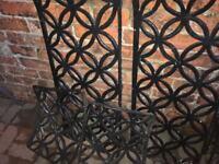 Garden Cast Iron bench inserts