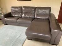 Sofa Chaise Longue & 2 Seater Sofa