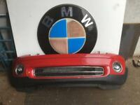 BMW MINI R56 ONE/COOPER COMPLETE FRONT BUMPER CHILLI RED 2007 ONWARDS