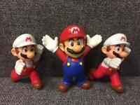 Bundle of rare Nintendo Super Mario Bros figure x3 McDonald's 2014
