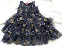 Gold/dark blue dress
