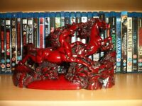 Chinese-Wild-Galloping-Horses-Red-Enamel-Resin-