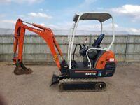 Kubota KX41-3s 1.5 tonne mini digger 2006 Very nice machine. Choice of 2