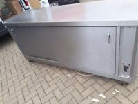 8ft Commercial catering equipment Hot cupboard clearance joblot stainless steel