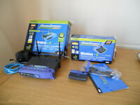 Linksys wireless - G Broadband router and USB Network Adapter