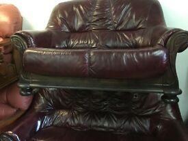 Leather quality secondhand leather suites choice of 18 exgillies suites