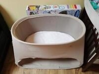 Stokke Cot daybed and baby bouncer