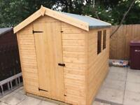 NEW HIGH QUALITY T&G 8x6 APEX ROOF GARDEN SHEDS £389.00 ANY SIZE (FREE DELIVERY AND INSTALLATION)