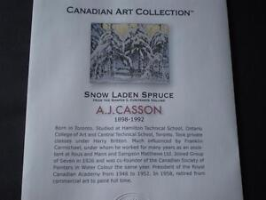 "A.J.Casson-""Snow Laden Spruce"" Limited Edition Print Kitchener / Waterloo Kitchener Area image 2"