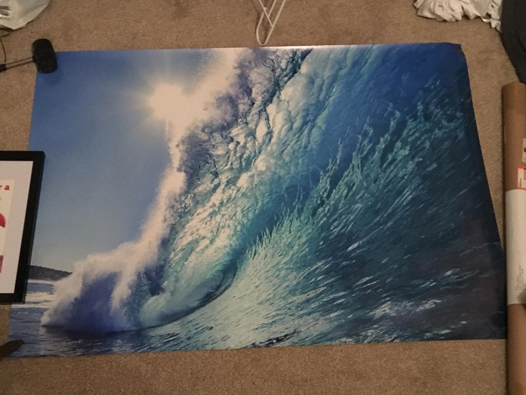 Free A1 Surf Wave Poster