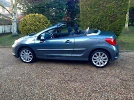 Peugeot 207 convertible only 22000 fsh