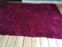 Red rug from smoke and pet free home