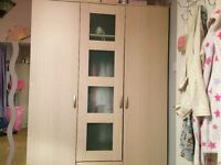 Triple Wardrobe beech effect