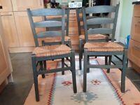 Kitchen chairs with Rush matting seat