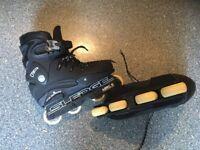 KOBE SLEDGE aggressive inline skates roller blades size 7. SUPERB CONDITION. BARGAIN PRICE.