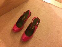 Stunning pink Ted Baker sling back heels size 3