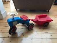 Children's ride on tractor trike ride on toy with trailer