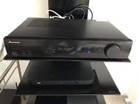 Pioneer VSX-S300-K Receiver, LG 5.1 Surround Sound speakers and stand