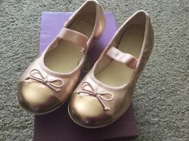 NEW Clarks Rose Gold Ballet Pumps. C11. Box available.