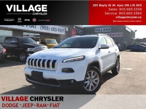 2016 Jeep Cherokee Limited|4x4|TOW|Memy&Vent Seat Grp|Panroof|Re
