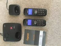 GIGASET AL410A TWIN CORDLESS PHONES WITH ANSWERING MACHINE