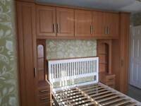 Bedroom units and table
